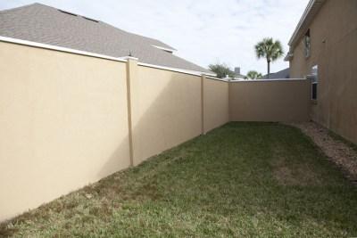 Stucco fence or stucco wall