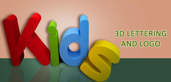 custom 3d huge lettering logo