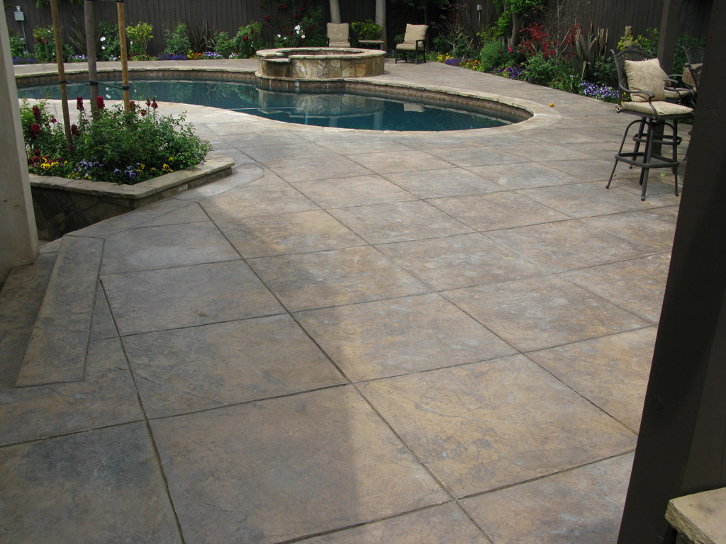 stamped concrete nh-ma-me decorative patio pool deck
