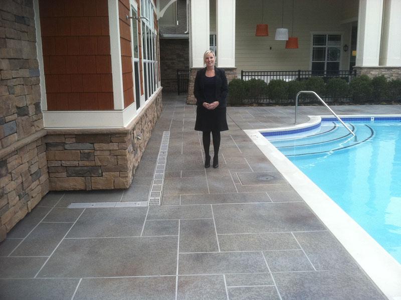 Acrylic Pool Deck Texture