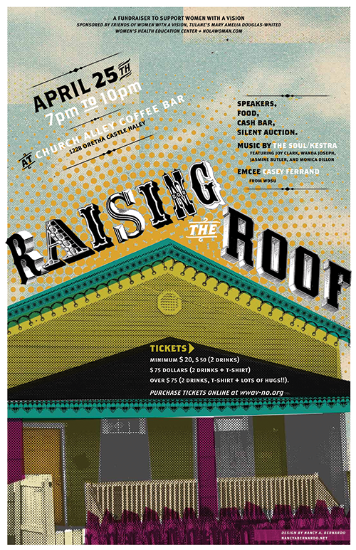 Raising the Roof fundraising poster