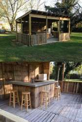 DIY OUTDOOR BAR IDEAS 16