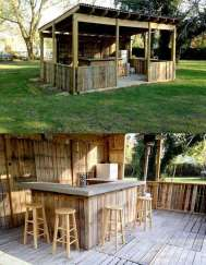 DIY OUTDOOR BAR IDEAS 49