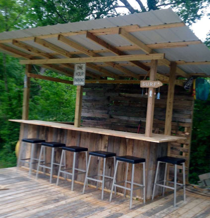 DIY OUTDOOR BAR IDEAS 79
