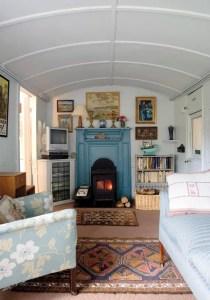 Whin Bridge Railway Carriage House, Eype, Dorset Carriage Interior