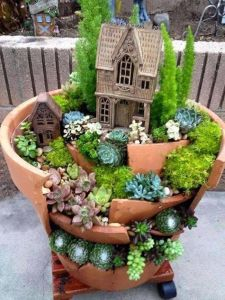 Magical And Best Plants DIY Fairy Garden Inspirations 20