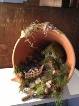 Magical And Best Plants DIY Fairy Garden Inspirations 26