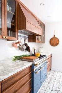 Modern Walnut Kitchen Cabinets Design Ideas 10