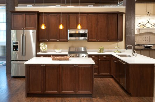 Modern Walnut Kitchen Cabinets Design Ideas 11