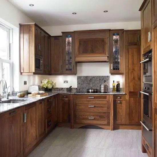 Modern Walnut Kitchen Cabinets Design Ideas 14 - decoratoo