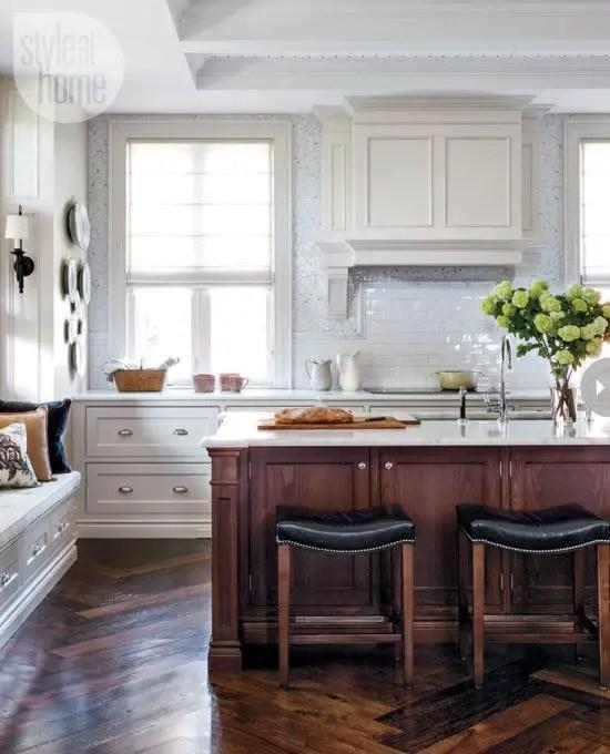 Modern Walnut Kitchen Cabinets Design Ideas 20