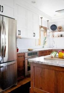 Modern Walnut Kitchen Cabinets Design Ideas 21