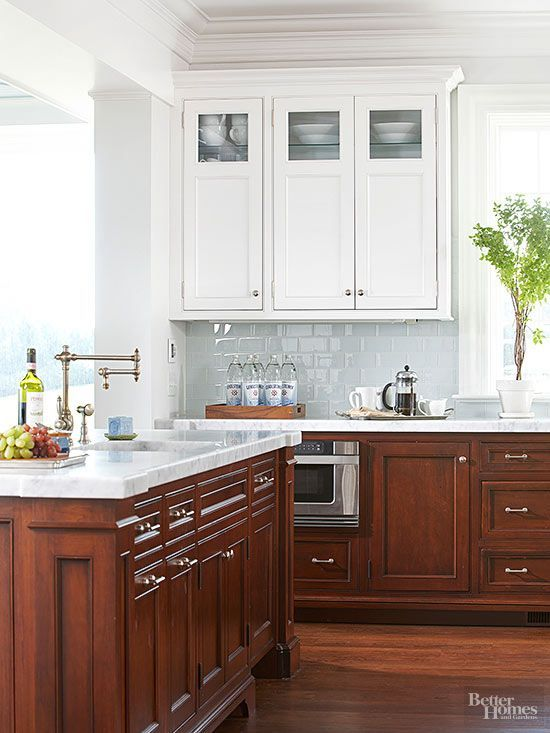 Modern Walnut Kitchen Cabinets Design Ideas 24