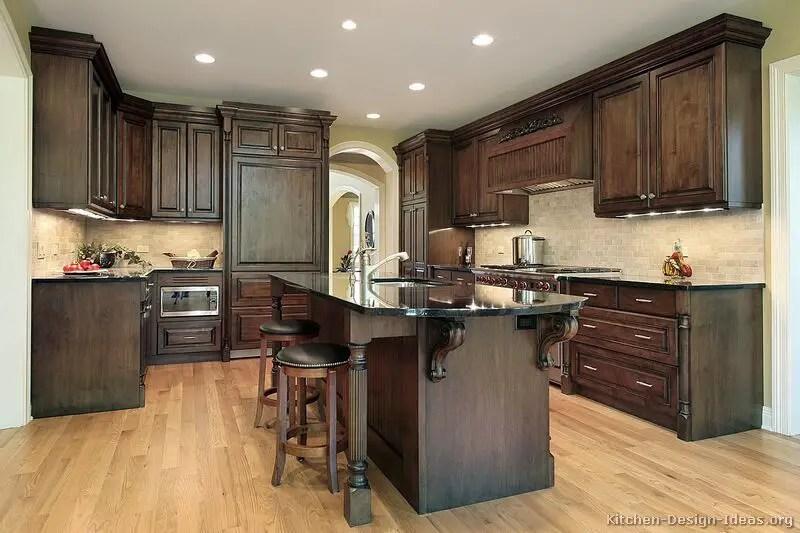 Home Architec Ideas Modern Wood Walnut Kitchen Design