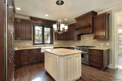 Modern Walnut Kitchen Cabinets Design Ideas 31