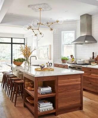 Modern Walnut Kitchen Cabinets Design Ideas 42