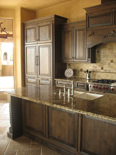 Modern Walnut Kitchen Cabinets Design Ideas 43