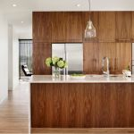 Modern Walnut Kitchen Cabinets Design Ideas 46