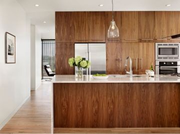 Modern Walnut Kitchen Cabinets Design Ideas 46