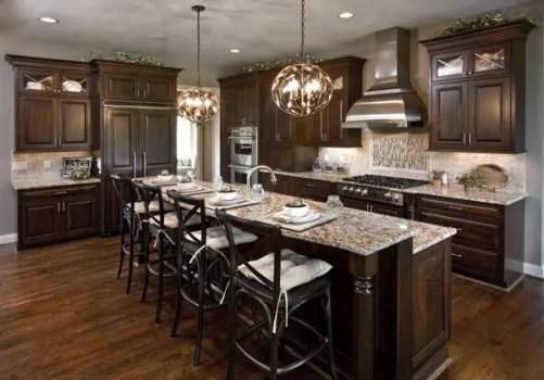 Modern Walnut Kitchen Cabinets Design Ideas 56