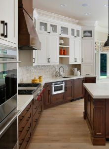 Modern Walnut Kitchen Cabinets Design Ideas 9
