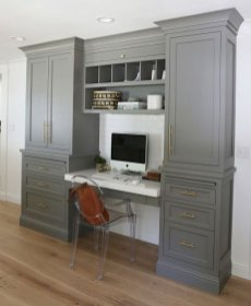 Office Built In Cabinets Ideas 21