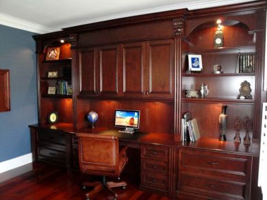 Office Built In Cabinets Ideas 39