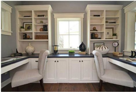 Office Built In Cabinets Ideas 4