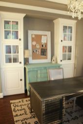 Office Built In Cabinets Ideas 44