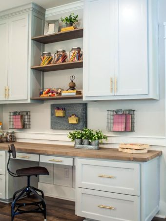 Office Built In Cabinets Ideas 47