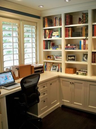 Office Built In Cabinets Ideas 49