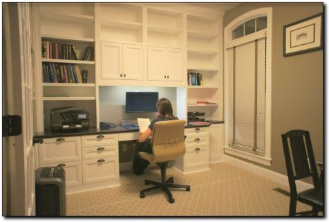 Office Built In Cabinets Ideas 66