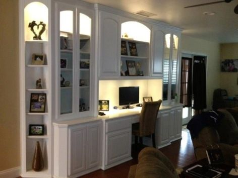 Office Built In Cabinets Ideas 9
