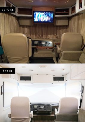 RV Hacks, Remodel And Renovation Ideas That Will Make You A Happy Camper57