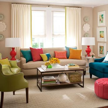 Bright Living Room Decor Ideas 48