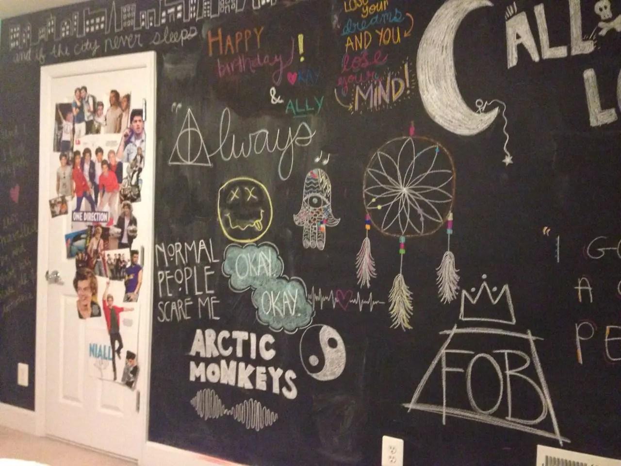 Chalk Wall Bedroom Ideas 21