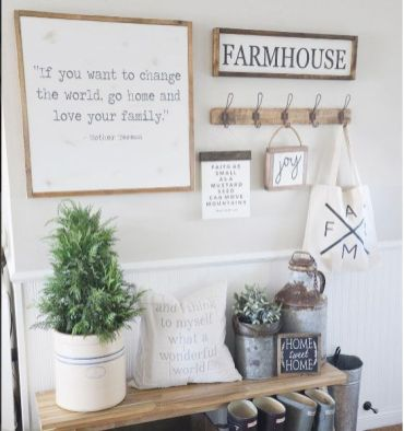 Farmhouse Gallery Wall Ideas 53