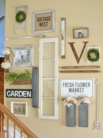 Farmhouse Gallery Wall Ideas 63