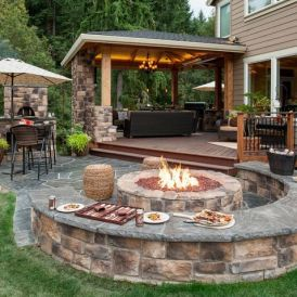 Fire Pit Seating Ideas 135