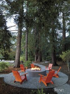 Fire Pit Seating Ideas 140