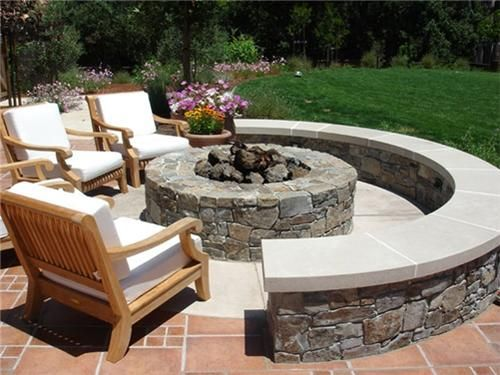Fire Pit Seating Ideas 144