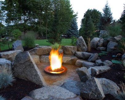 Fire Pit Seating Ideas 156