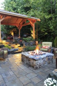 Fire Pit Seating Ideas 76