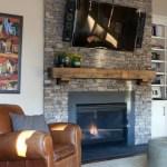 Reclaimed Wood Fireplace 100