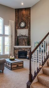 Reclaimed Wood Fireplace 109