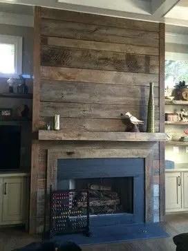 Reclaimed Wood Fireplace 115