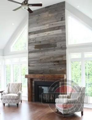 Reclaimed Wood Fireplace 125