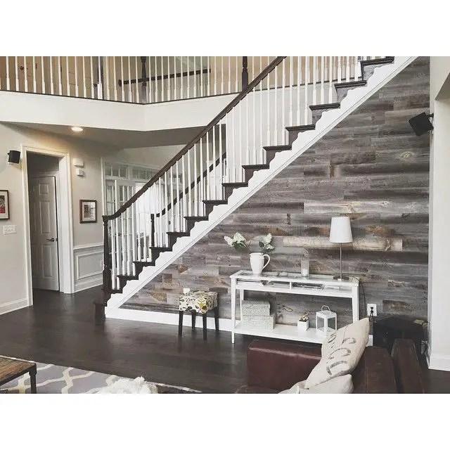 Reclaimed Wood Fireplace 128