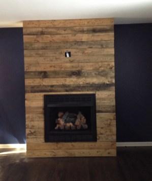 Reclaimed Wood Fireplace 13