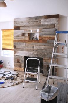 Reclaimed Wood Fireplace 142